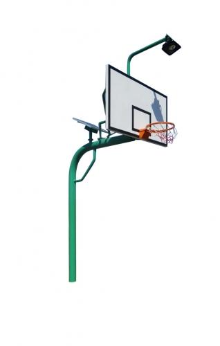 太阳能地埋圆管篮球架